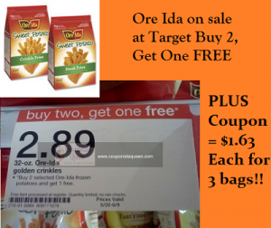 Deal | Ore Ida Fries $1.63 each after coupon and sale at Target image