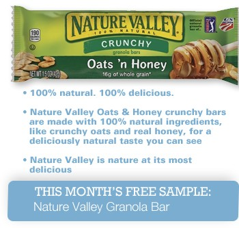 nature valley granola bar sample