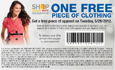 sears free apparel tuesday