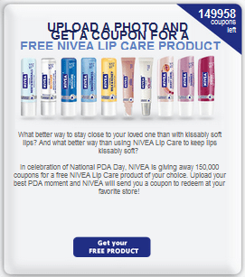 FREE + Giveaway | FREE Nivea Lip Care!  HURRY! image