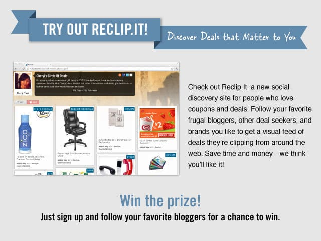 Giveaway | Reclip.It for Frugal Deals ~ Win $25 Amazon Gift Card {2 Winners} image