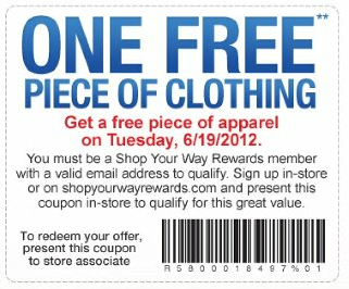 Sears Free Apparel Tuesday 6-19