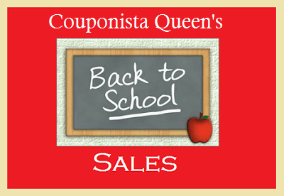 Couponista Queen's Back-to-School Sales