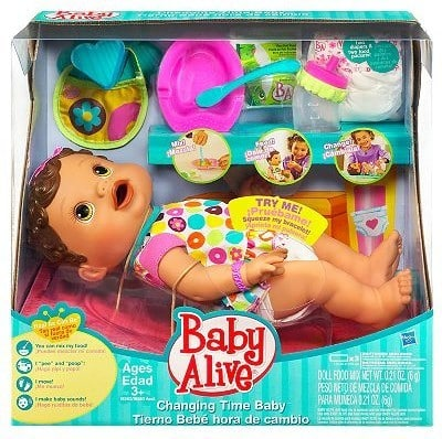 Deal Hasbro Baby Alive Changing Time Baby Doll Set