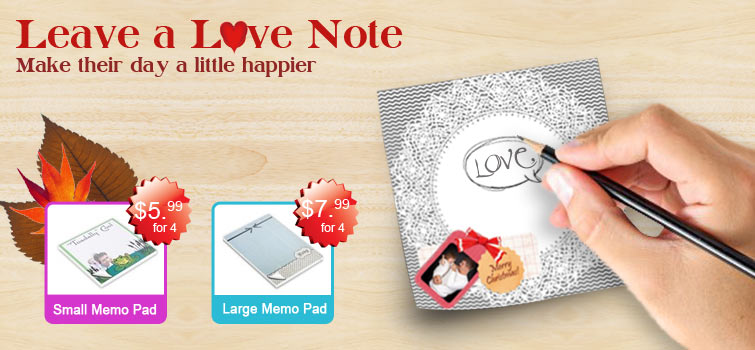 Great deal on custom memo pads includes free shipping!