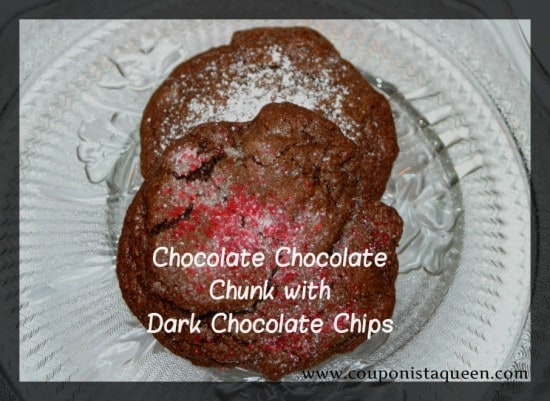 Recipe | Chocolate Chocolate Chunk with Dark Chocolate Chip Cookies