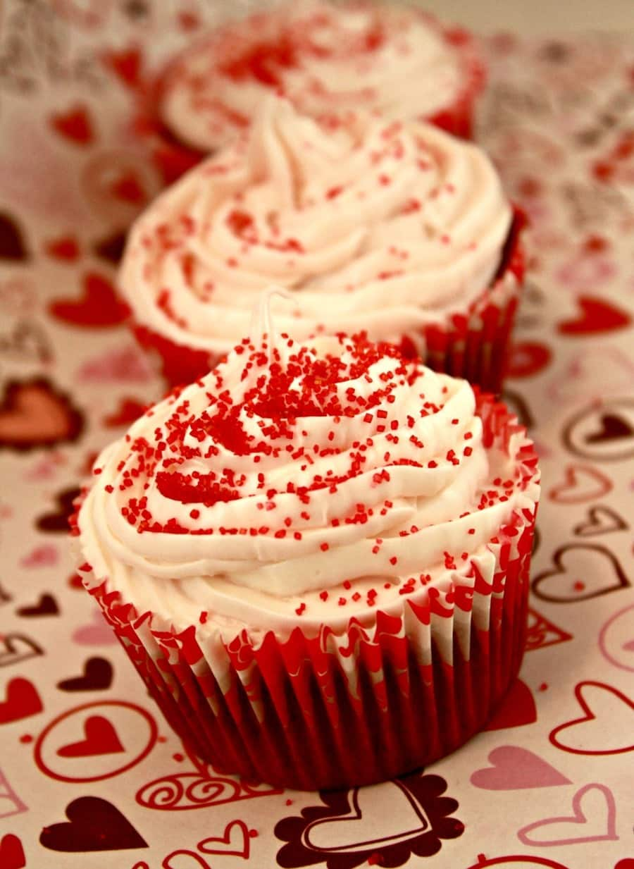Red Velvet Cupcakes with Cream Cheese Icing Recipe