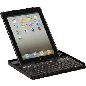 New Trent IMP39B/NT 39B Embassy Keyboard Case for iPad 2, Bluetooth keyboard /w leather finish back cover for Apple iPad 2 3G Tablet, WIFI Model, 16GB, 32GB, 64GB, with three different adjustable angles. image