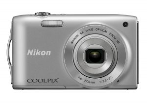 Nikon COOLPIX S3300 16 MP Digital Camera with 6x Zoom (Silver) $69.95 and free 1 Day Shipping!  image
