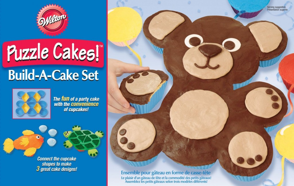 Wilton Animal Puzzle Cakes!TM Build A Cake Set $4.98 and Free Super Saver Shipping image