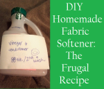 DIY Homemade Frugal Fabric Softener