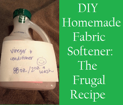 DIY Homemade Fabric Softener: The Frugal Recipe image