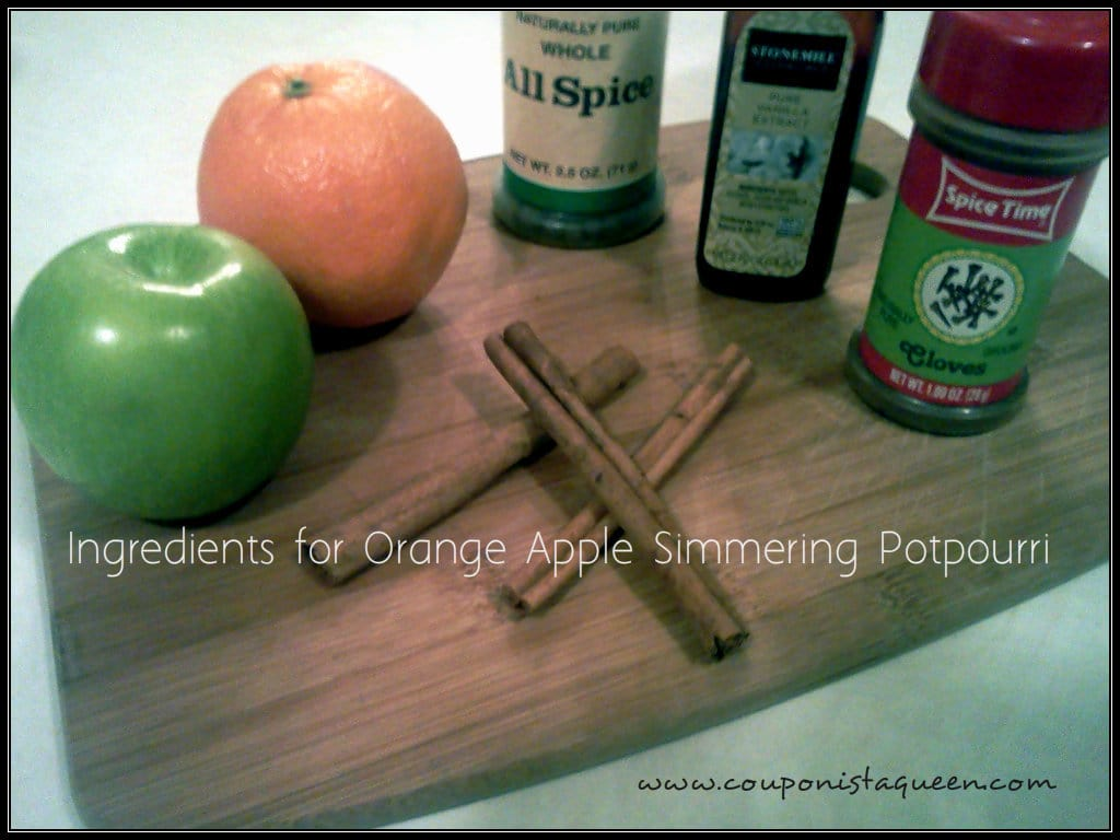 Ingredients for Orange Apple Simmering Potpourri