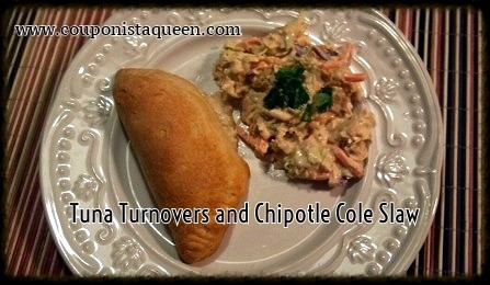 Tuna Turnovers and Chipotle Cole Slaw
