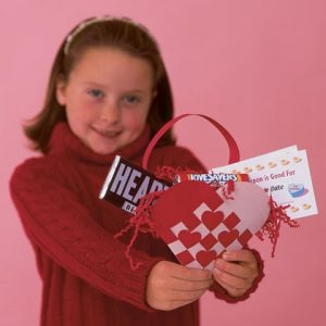 Woven Heart Basket Craft