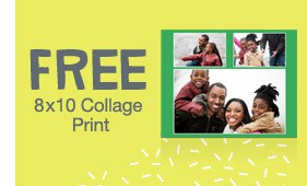 FREE 8×10 collage print from Walgreens