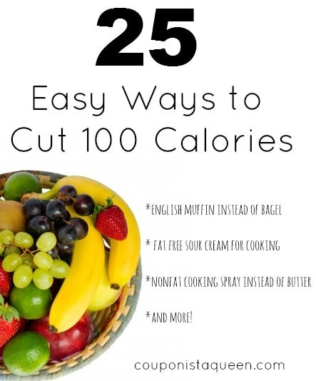 25 Ways to Cut 100 Calories or More
