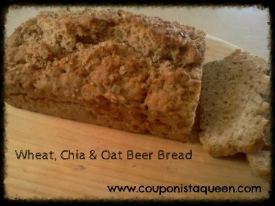 Wheat Chia and Oat Beer Bread