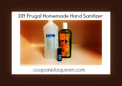 DIY Homemade Frugal Hand Sanitizer