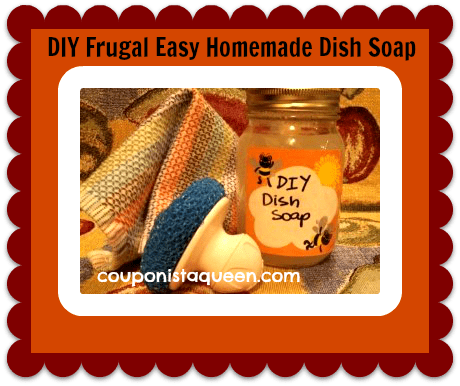 DIY Frugal Easy Homemade Dish Soap
