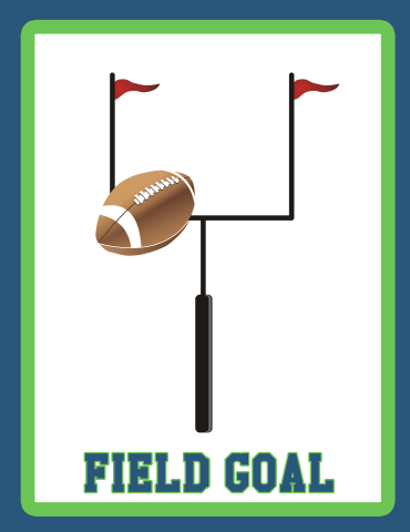 Field Goal Blue Green