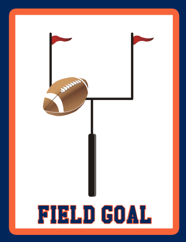 Field Goal Orange Blue