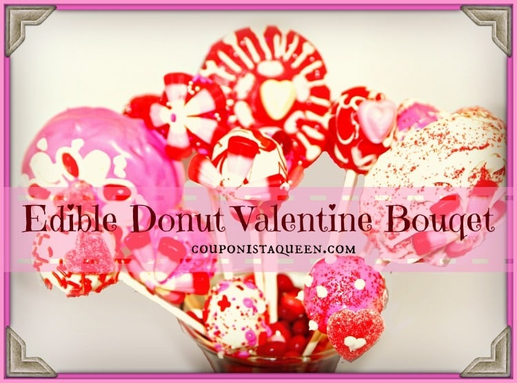 Edible Donut Valentine Bouquet