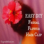 Lady B's Budget Boredom Busters!  Make an Easy, DIY, Frugal Floral Hair Clip