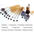 HOT Deal!  11PCS Makeup Brush Set Bamboo Handle
