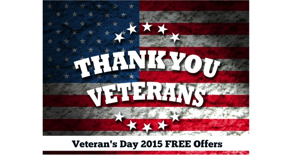 List of freebies for veterans