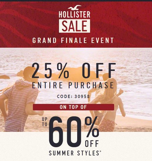 Hollister discount coupon