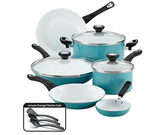Farberware 12-Pc. Ceramic Nonstick Cookware Set ONLY $43.45! SAVE $56 ...