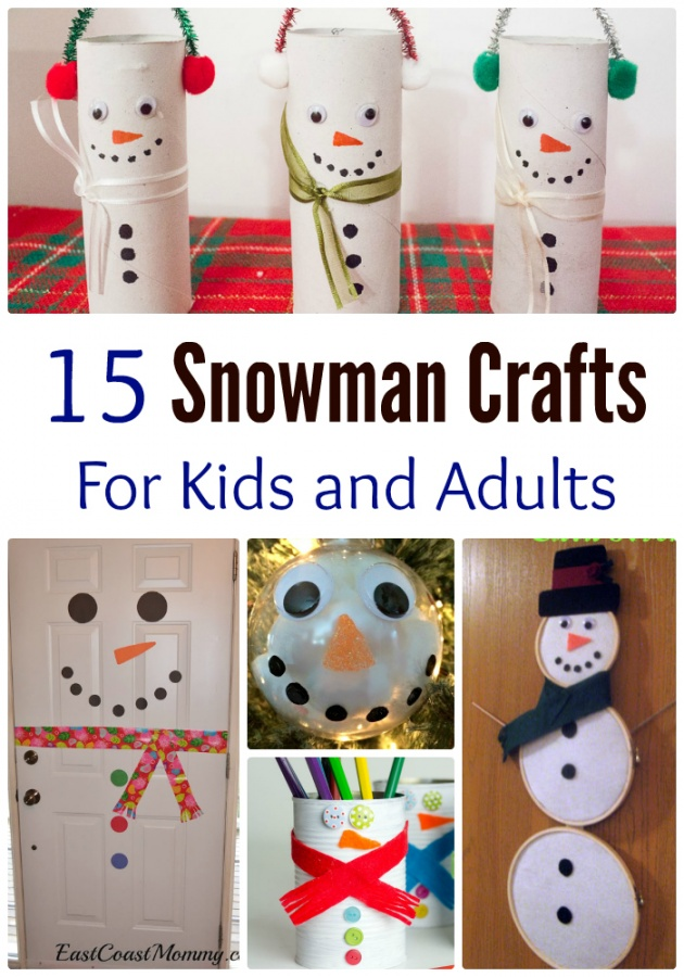 15-snowman-crafts-for-kids-and-adults-titled