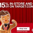 15% OFF Pretty Much Everything at Target PLUS Free Shipping AND Returns!!