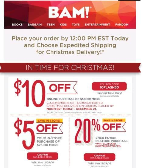 Bam books coupons