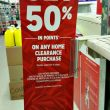 Kmart 50% Points Back on Home Clearance Purchases