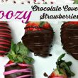 Boozy Chocolate Covered Strawberries