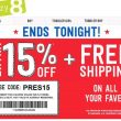 Crazy 8! EXTRA 15% Off, FREE Shipping, $7.55 Jeans & $3.30 Tees! TODAY ONLY!