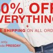 TODAY ONLY! 40% Off EVERYTHING & FREE Shipping On All Orders at GAP!